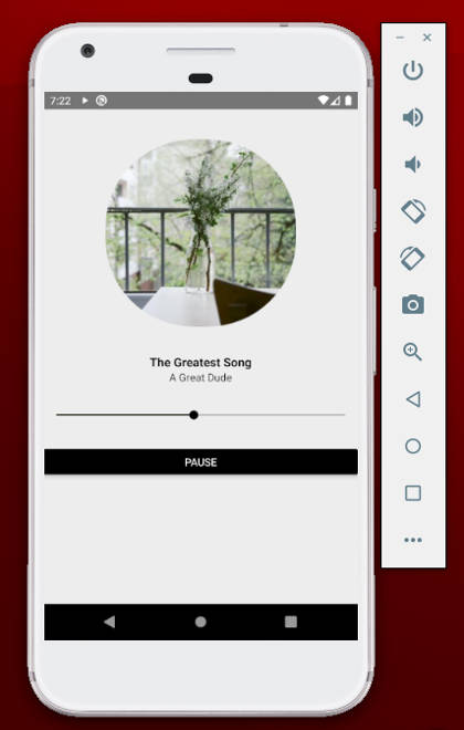 Music player using react-native-track-player